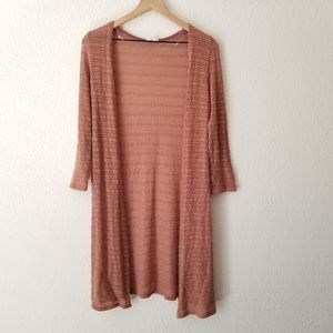 Trendy JS Copper Open Front Cardigan Duster Small